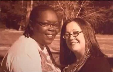 This is the photo Michelle Cooks and Patricia Wrightner  wanted the Texarkana Gazette to run with their wedding announcement.