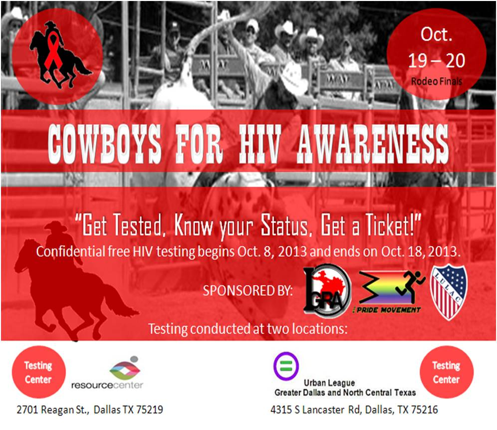 Rodeo HIV Testing flyer