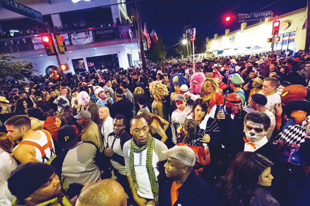 the crowds at the annual halloween block party along cedar springs road have nearly doubled over the last several years peaking at about 20000 revelers - Dallas Halloween Parade