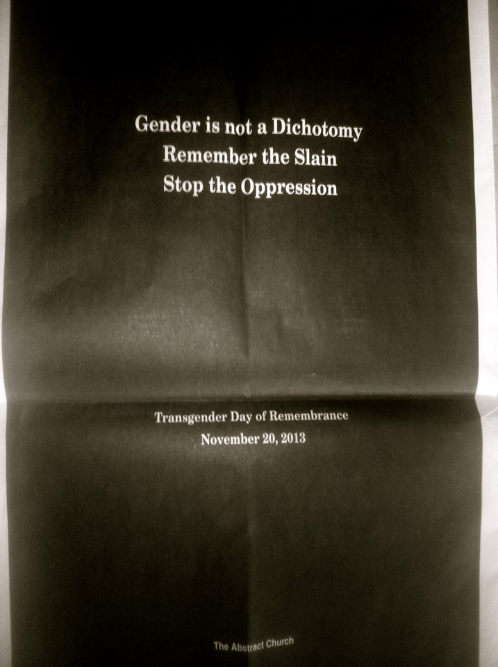 Queer Denton church takes out ad in honor of Trans Day of Remembrance