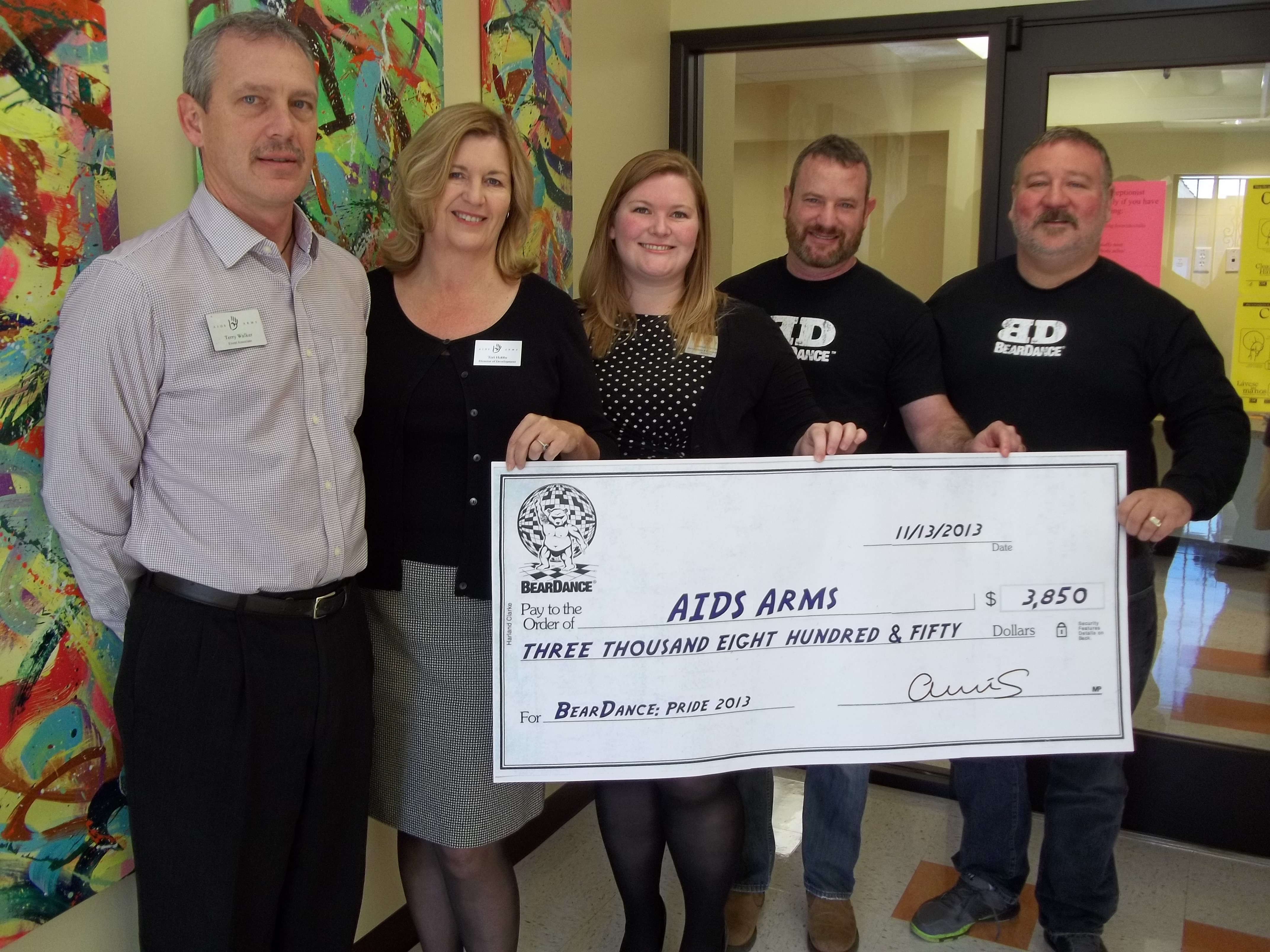 BearDance gives AIDS Arms $3K donation