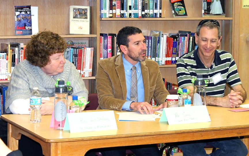 Community leaders speak to high school gay-straight alliance