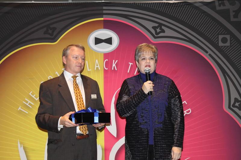 Black Tie Dinner chairs Ken Morris and Mitzi Lemons
