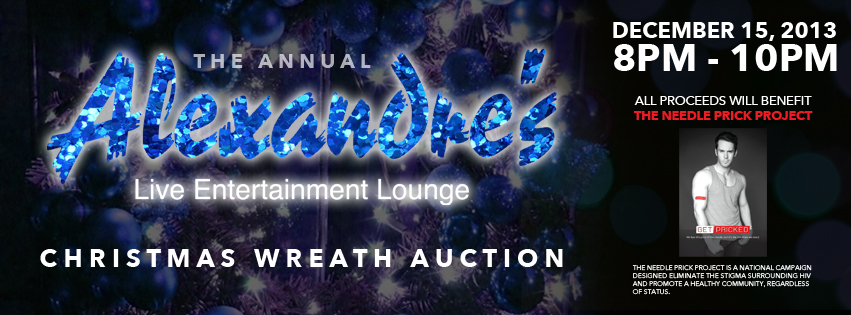 Alexandre's hosts Christmas wreath auction to benefit Needle Prick Project