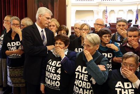 Gay rights activists arrested in Idaho Senate
