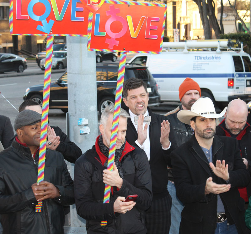 Marriage ruling celebrated at Legacy of Love monument