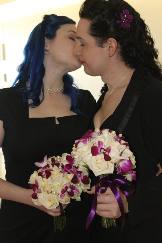 Two lesbian couples — each with a trans partner — marry in Dallas courtroom
