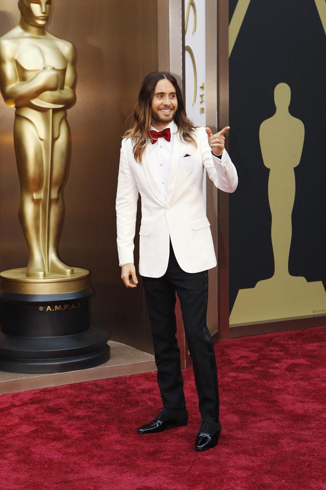 Leto, dressed as a man, was defiantly dapper.