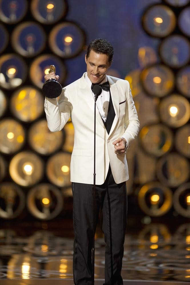 McConaughey rocked a white dinner jacket.
