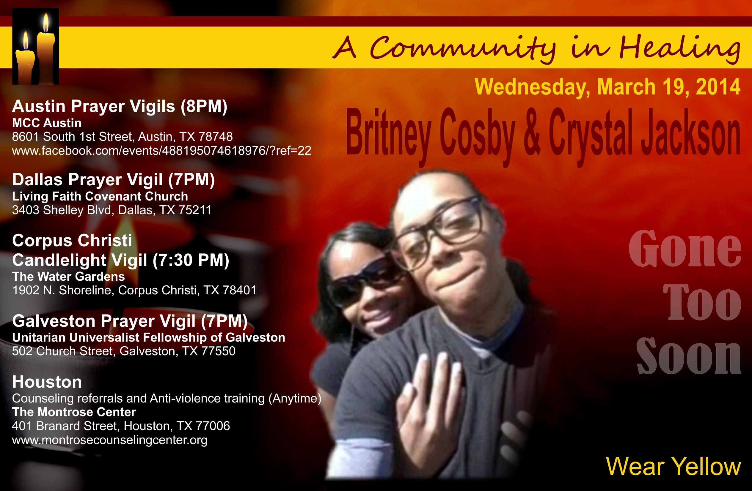 Vigils planned across Texas for murdered Houston lesbian couple