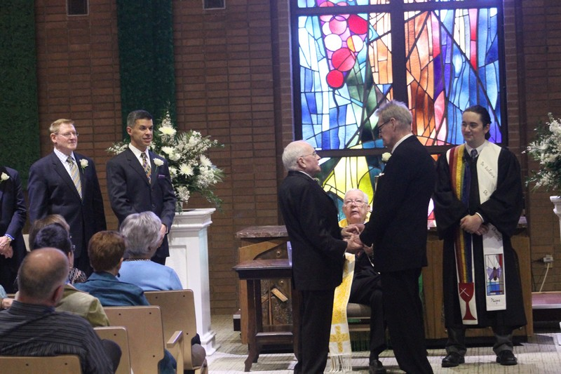 After 53 years, Evans and Harris pack the church for their wedding