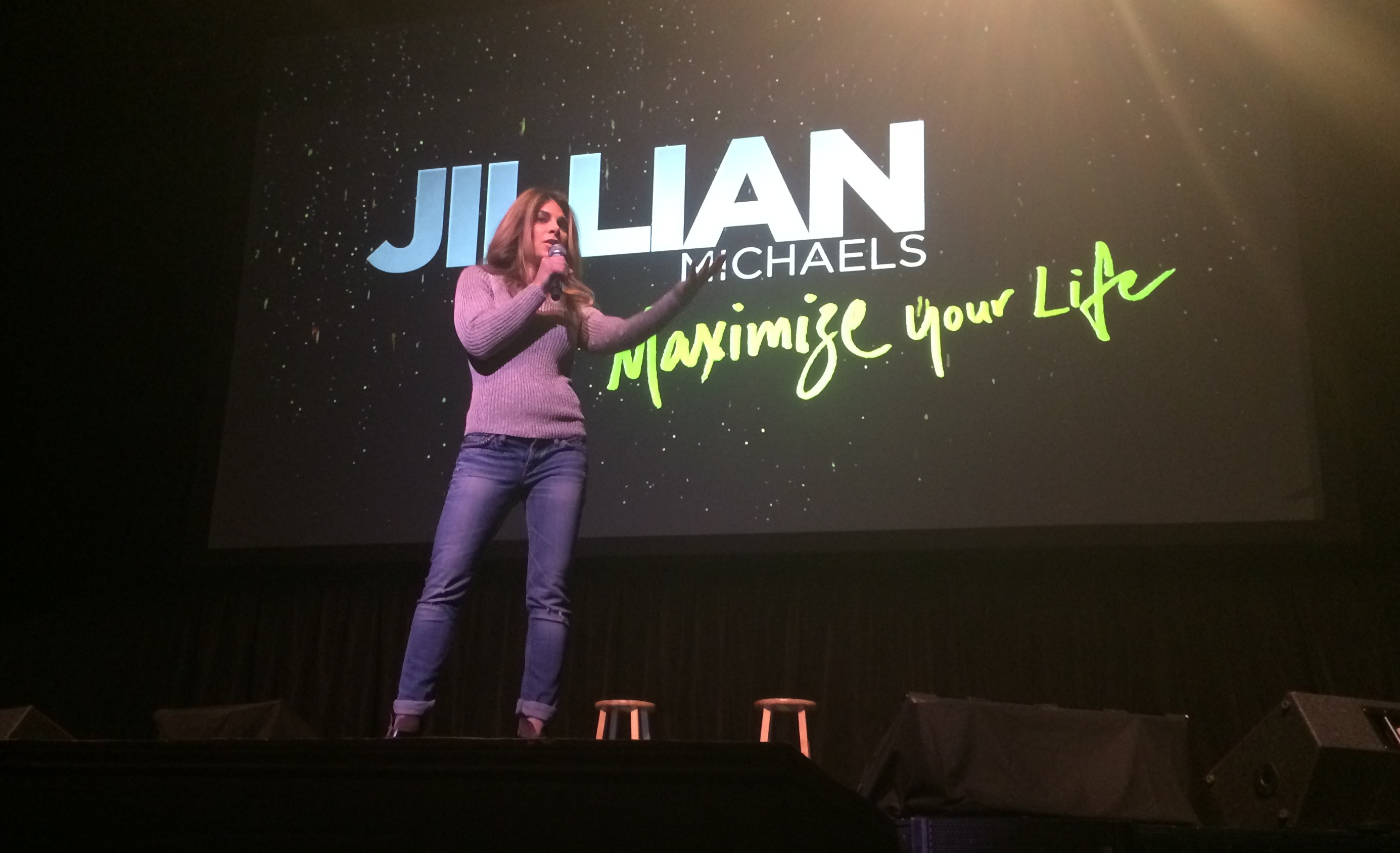 PHOTOS: Jillian Michaels maximizes time in Dallas with tour visit