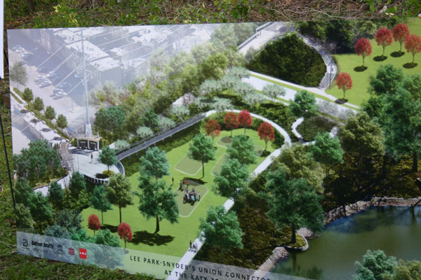 Ground broken on Lee Park entrance to Katy Trail