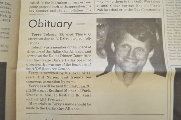Texas Obituary Project paints picture of gay Texas