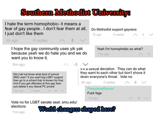 SMU students vote down LGBT Senate seat, post anti-gay rants