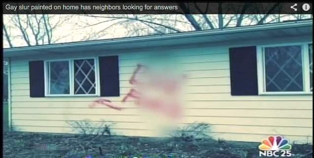 Gay slur painted on Michigan teen's home