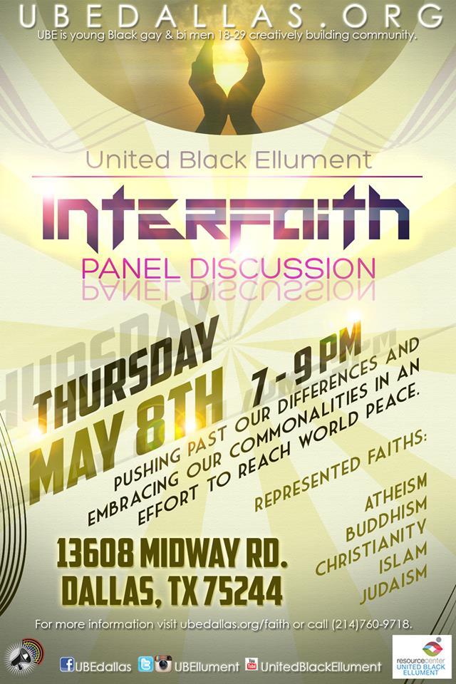 UPDATE: United Black Ellument presents interfaith panel discussion postponed