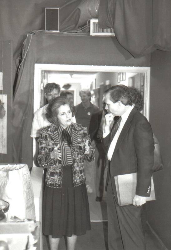 Mayor Annette Strauss, left, talks with DGA President William Waybourn