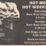 "An ad for Throckmorton Mining Company. Look at the note on the bottom: ""Watch for Heda Quote serving suds soon at TMC."" Heda was Rex Ackerman, who wrote what's become our Scene pages for years. Tammye said she ""served suds"" at Jugs occasionally during her first few years at the Voice."