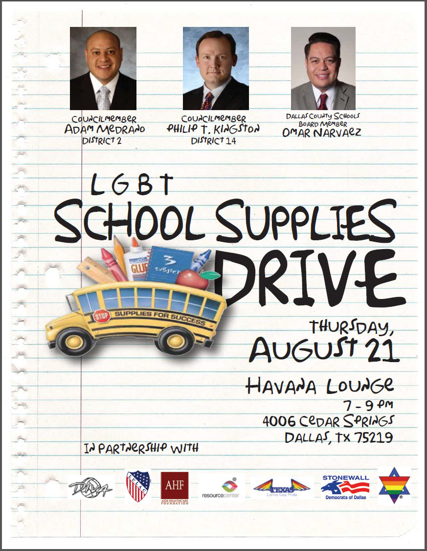 LGBT groups join forces for school supplies drive