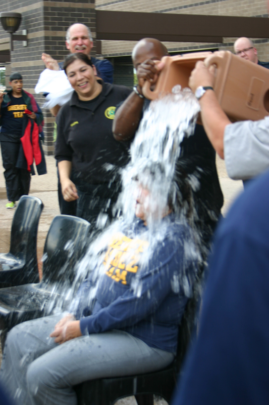 Sheriff Lupe Valdez takes the ALS ice bucket challenge