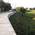 Drop off — rails should be placed along this stretch of the trail soon. Until then it could be a little dangerous