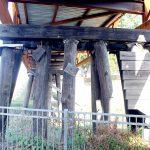 The bike bridge was built on an old railroad tressle