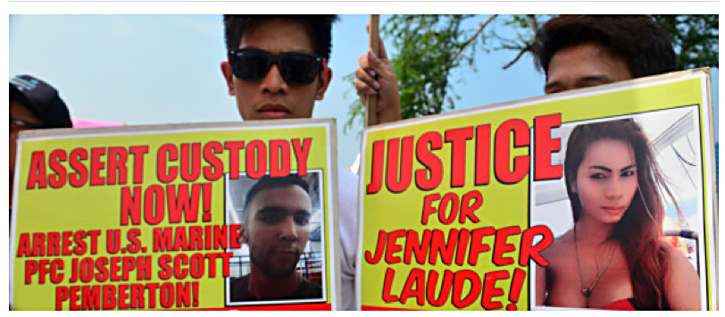 U.S. Marine charged with murder of transwoman in Philippines