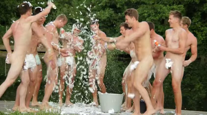 WATCH: Naked athletes frolicking. Yeah, that (NSFW)