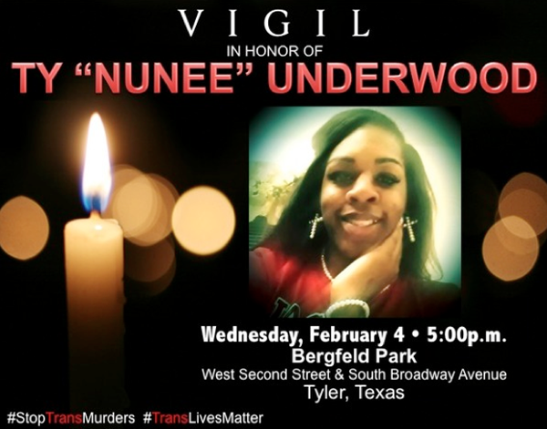 Vigil set in Tyler for murdered trans woman