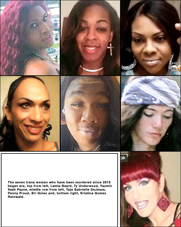 In Memory: 7 trans women killed since the year began