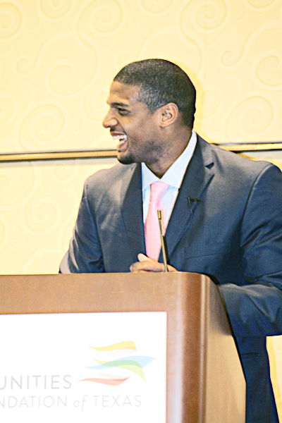 Michael Sam said he's standing up for the kids in speech at Holocaust Museum