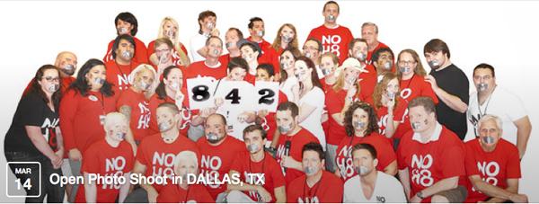 NOH8 shoot is Saturday in Dallas