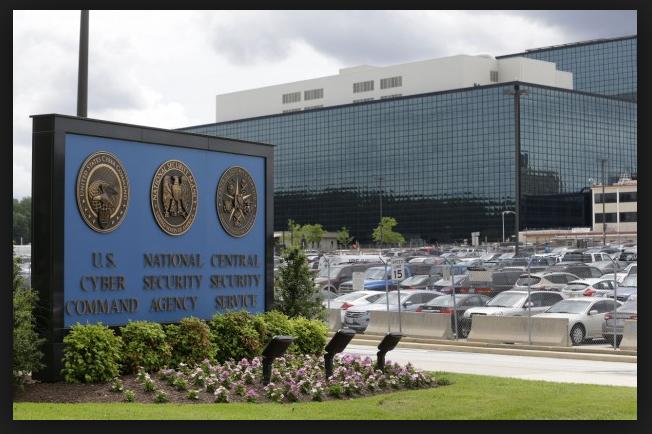 Two 'men dressed as women' crash through NSA gate