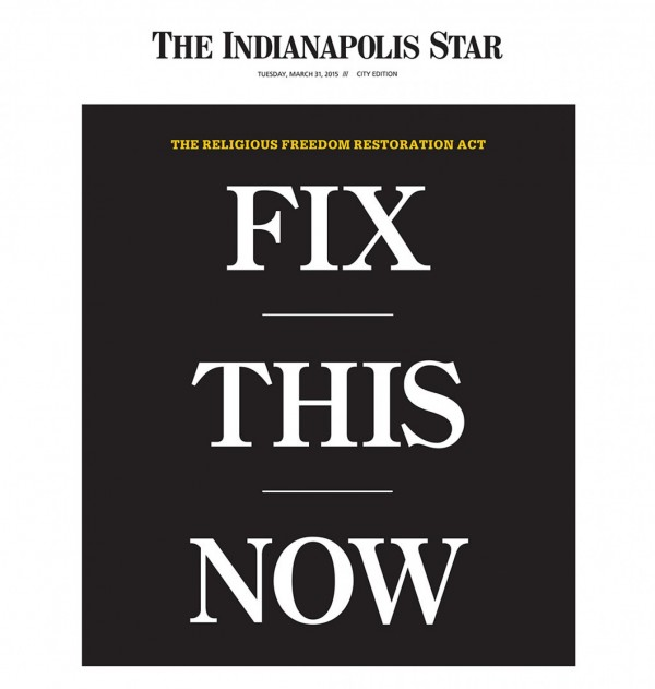 Check out the front page of today's Indianapolis Star