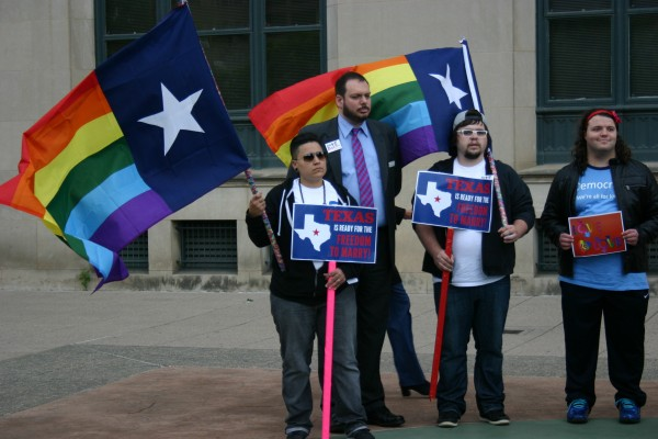 LGBT advocates gather following SCOTUS marriage hearing