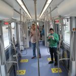 Seating is the same fabric as DART light rail