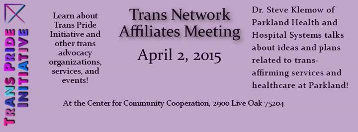 Trans Network Affiliates April meeting canceled