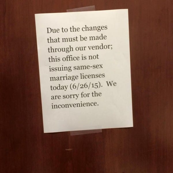 Denton County Clerk dithering, but insists she's not scuttling SCOTUS decision