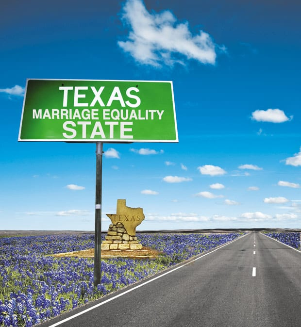 Getting a marriage license, and married, in Texas