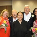 Judge Dennise Garcia and two witnesses at Al and Greg's wedding