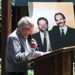 Don Maison with picture of ASD founders Michael Merdian and Daryl Moore