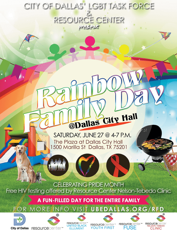 June 27 is Rainbow Family Day at Dallas City Hall