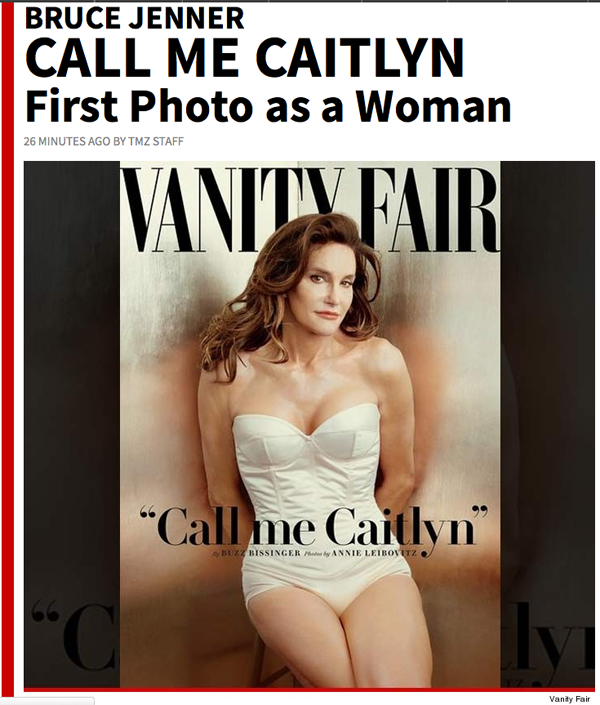 'Call me Caitlyn' — TMZ leaks Vanity Fair cover with Jenner photo