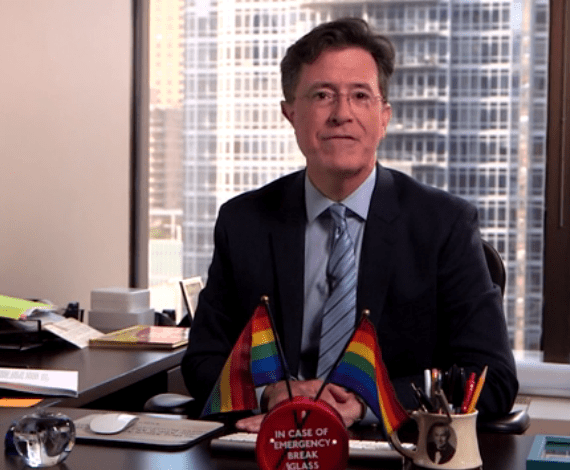 Stephen Colbert: 'An historic day for gay people of all stripes'