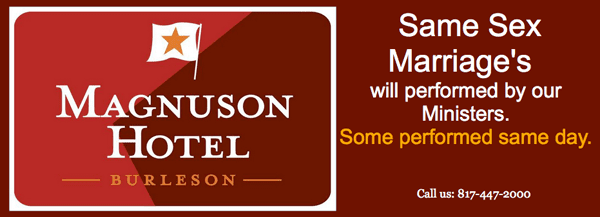 Hotel Burleson offering wedding packages for same-sex couples