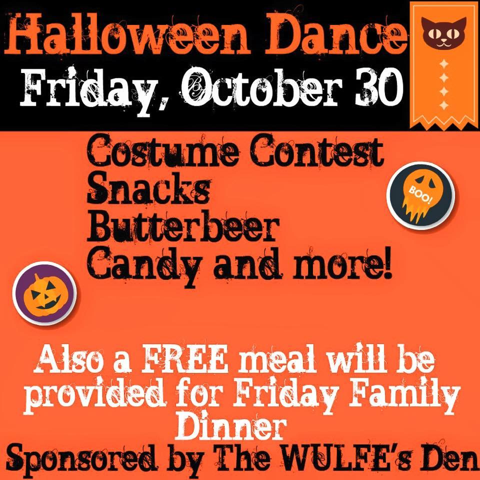 Youth First Halloween Dance tonight