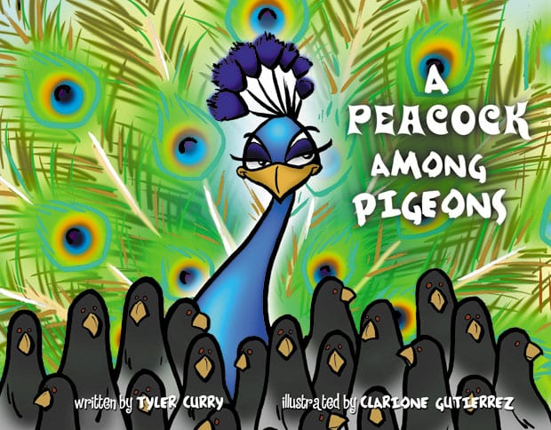A_Peacock_Among_Pigeons