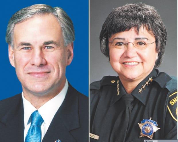Gov. Greg Abbott Sheriff Lupe Valdez
