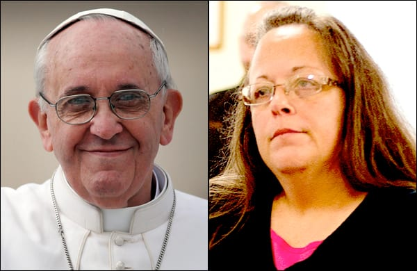 Kim Davis' meeting with the Pope wasn't that special after all (but a gay man and his partner got a private audience with the pontiff)